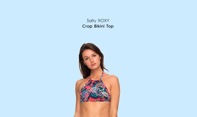 Salty ROXY - Crop Bikini Top