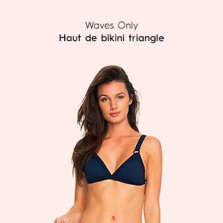 Waves Only - Fixed Tri Bikini Top