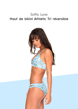 Softly Love - Reversible Athletic Tri Bikini Top